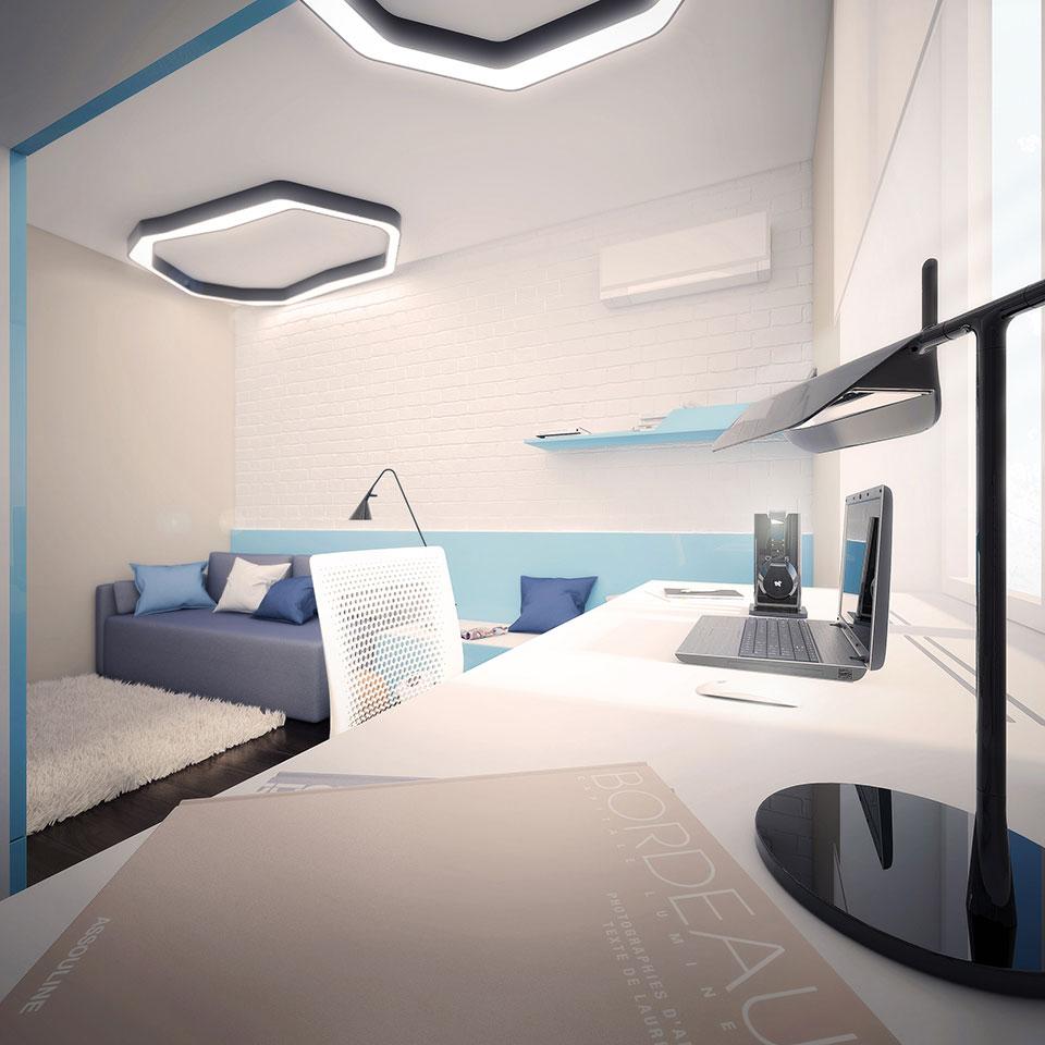дизайн квартири москва - інтер'єр дитячої