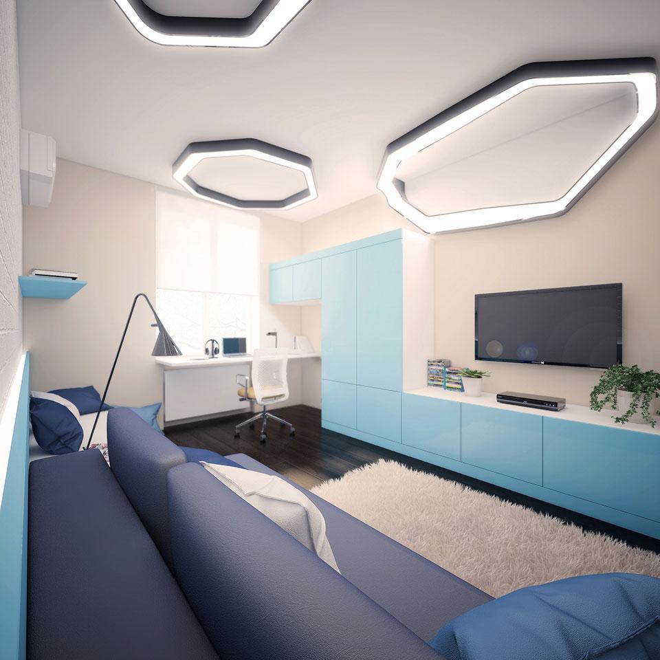 інтер'єр квартири москва - дизайн дитячої