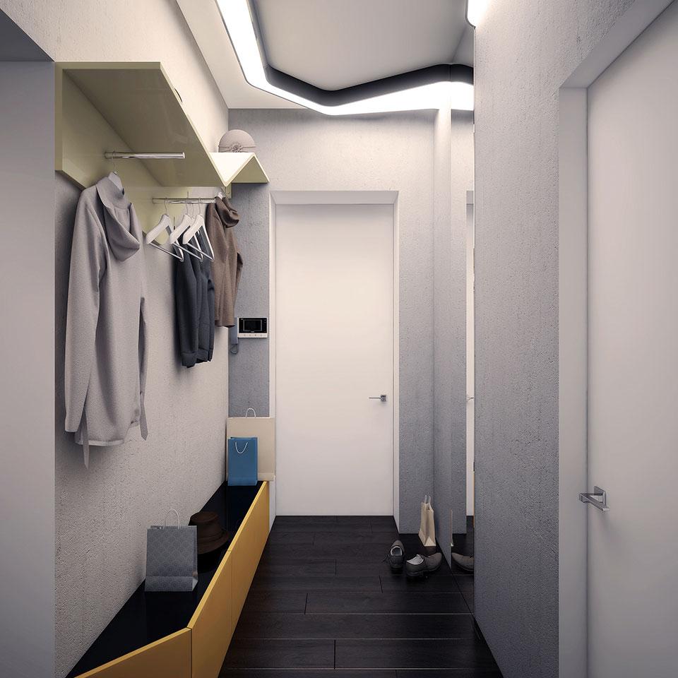 дизайн квартири москва -інтер'єр коридору