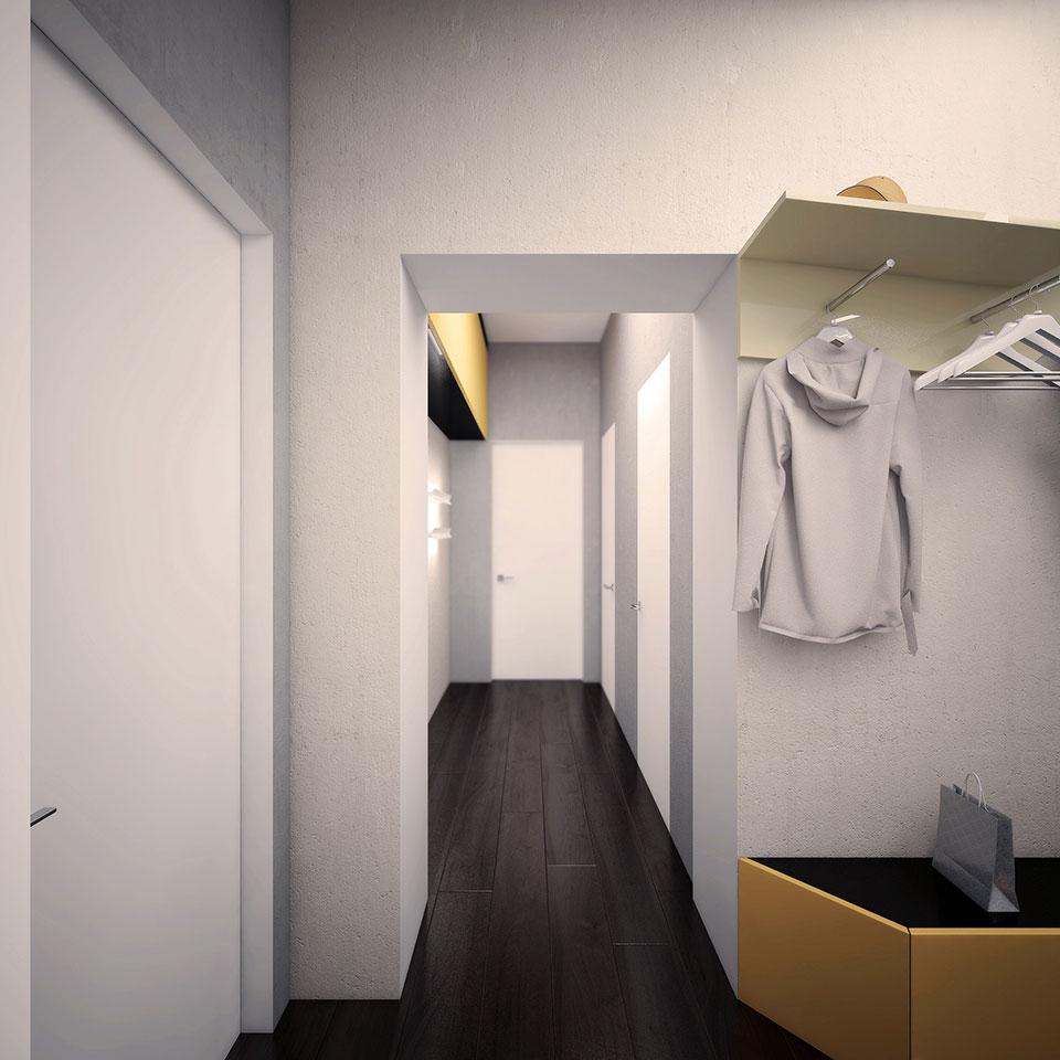 інтер'єр квартири москва - дизайн коридору