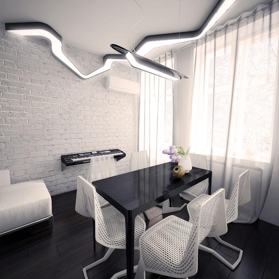 дизайн інтер'єру москва - сучачна квартира