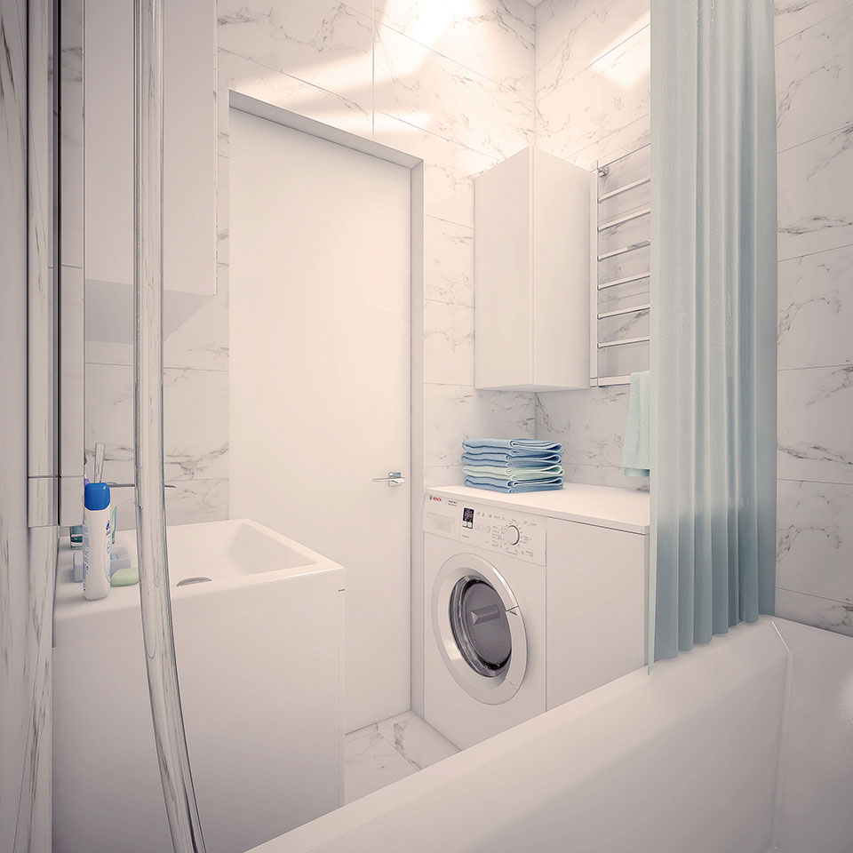 інтер'єр квартири москва - дизайн ванної