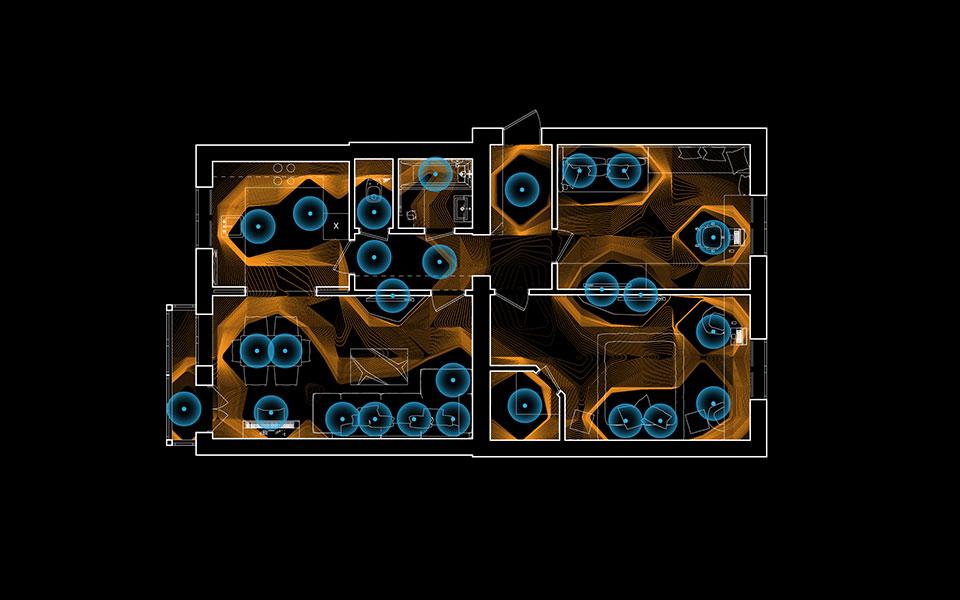 параметрична архітектура - діаграма світла, план