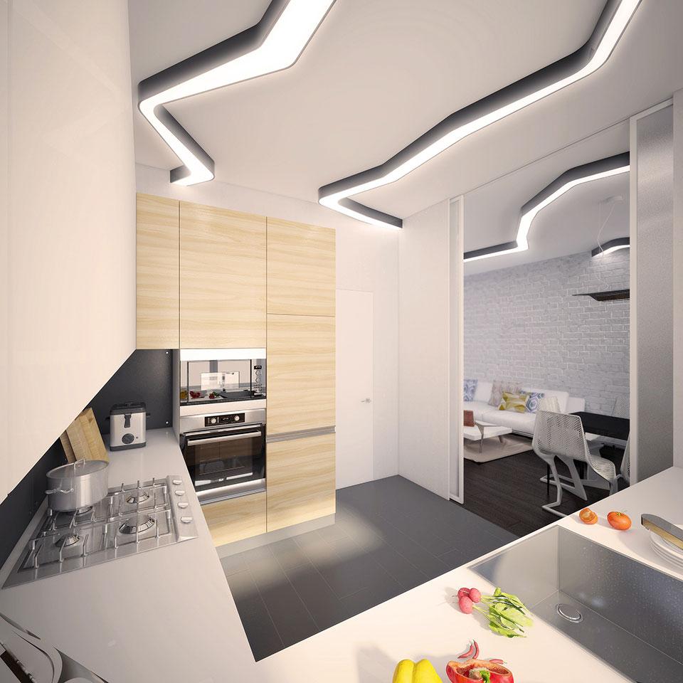 дизайн квартири москва - інтер'єр кухні