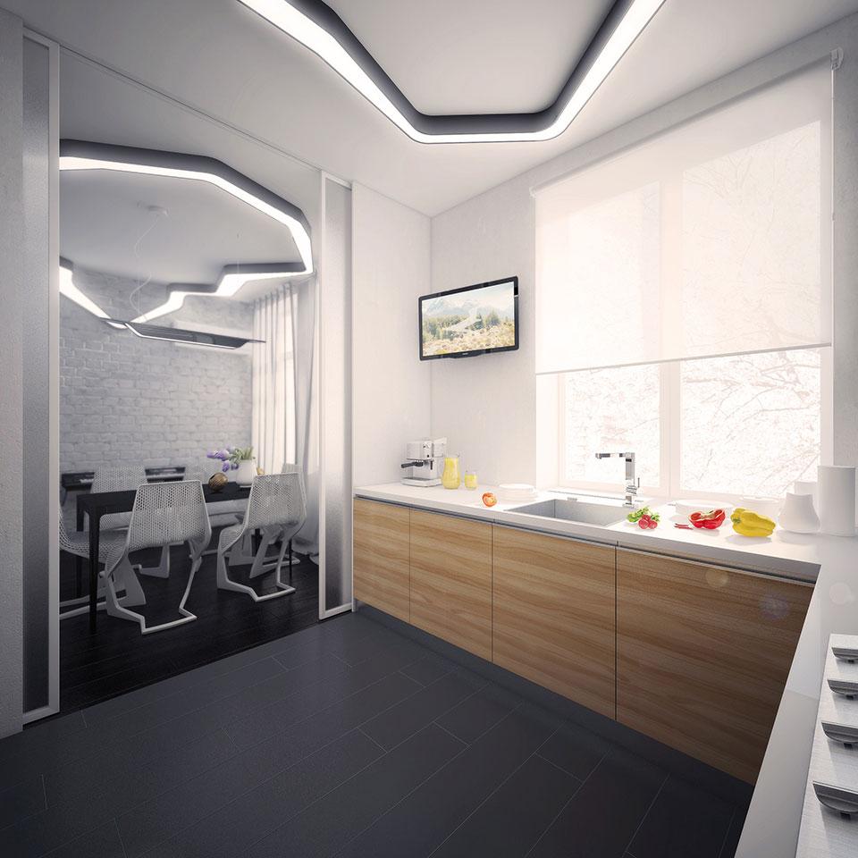 дизайн інтер'єру москва - функціональна кухня