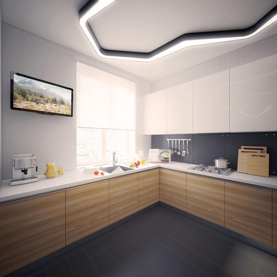 дизайн кухні - інтер'єр квартири москва