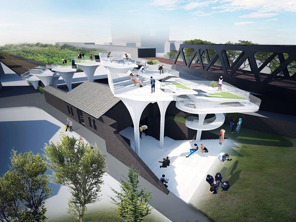 архітектура станції шордич у лондоні