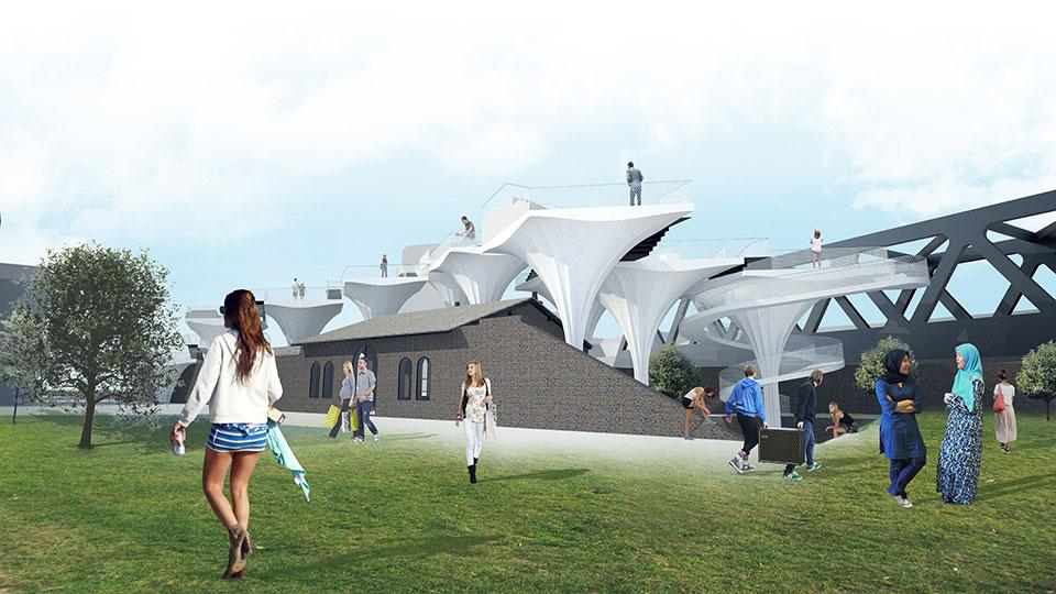 лондон станція шордич - архітектурний конкурс