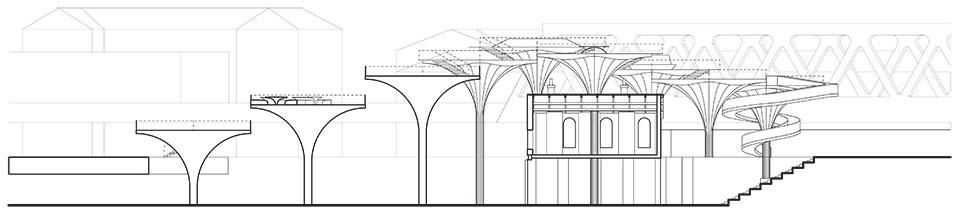 лондон станція шордич архітектурний розріз