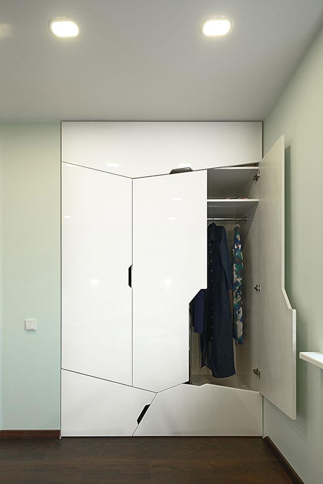 дизайн параметричної квартири київ - шафа