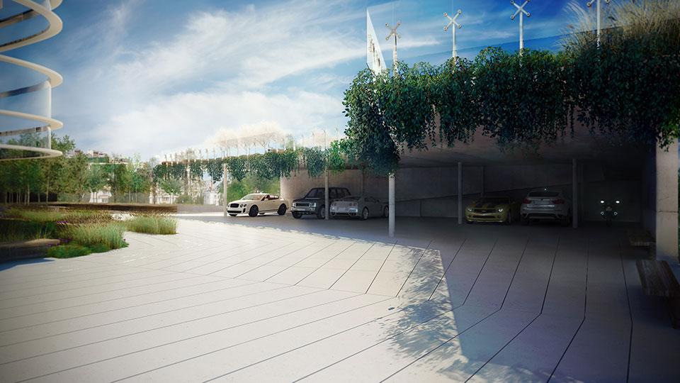 архітектура signature київ - зелена парковка