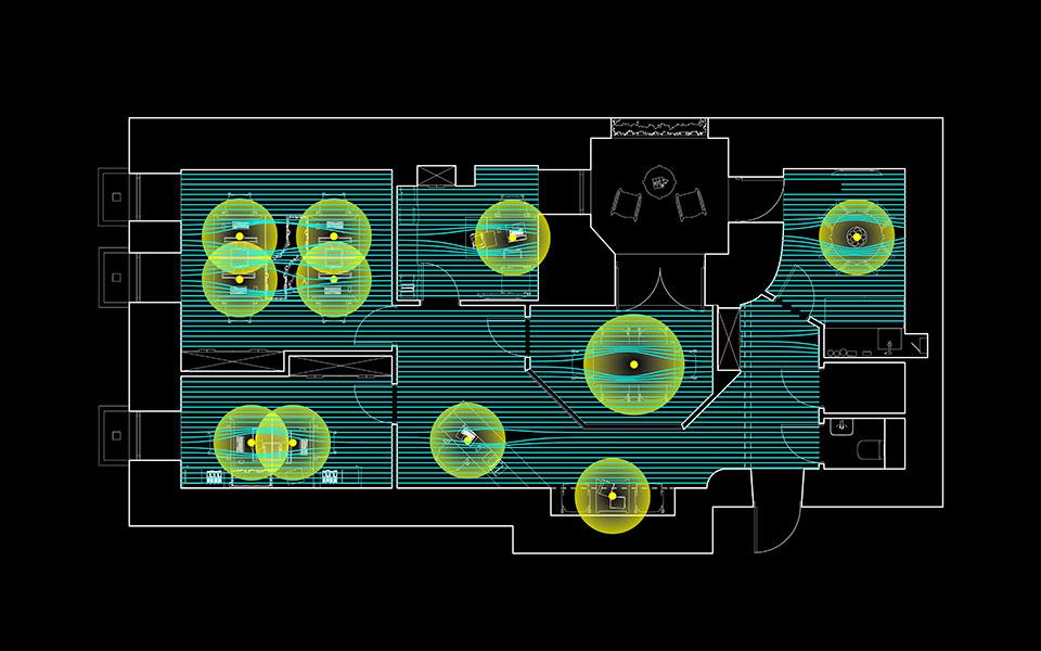 планування офісу під дією функціональних атракторів