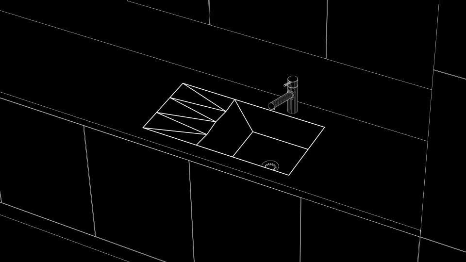 кухонна мийка з акрилового каменю