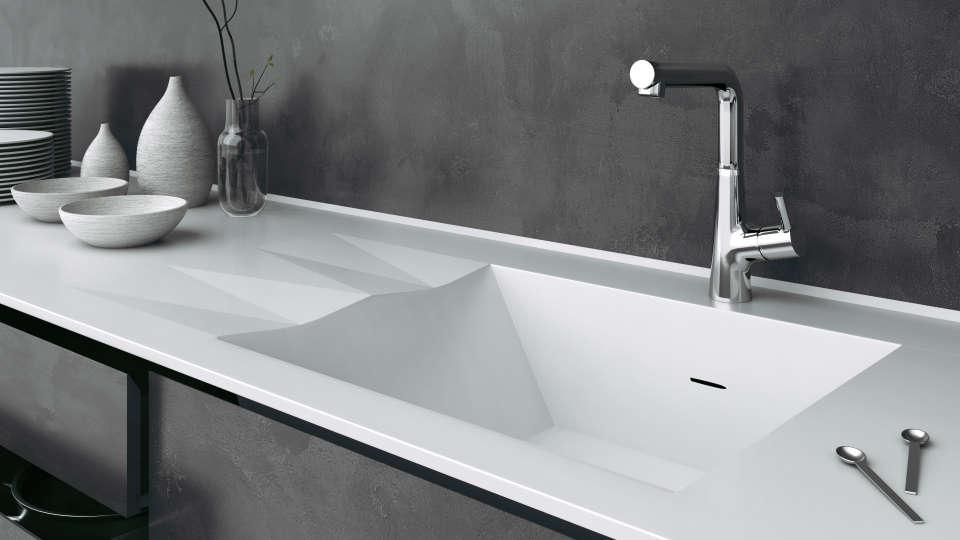 ночви - сучасний параметричний дизайн мийки