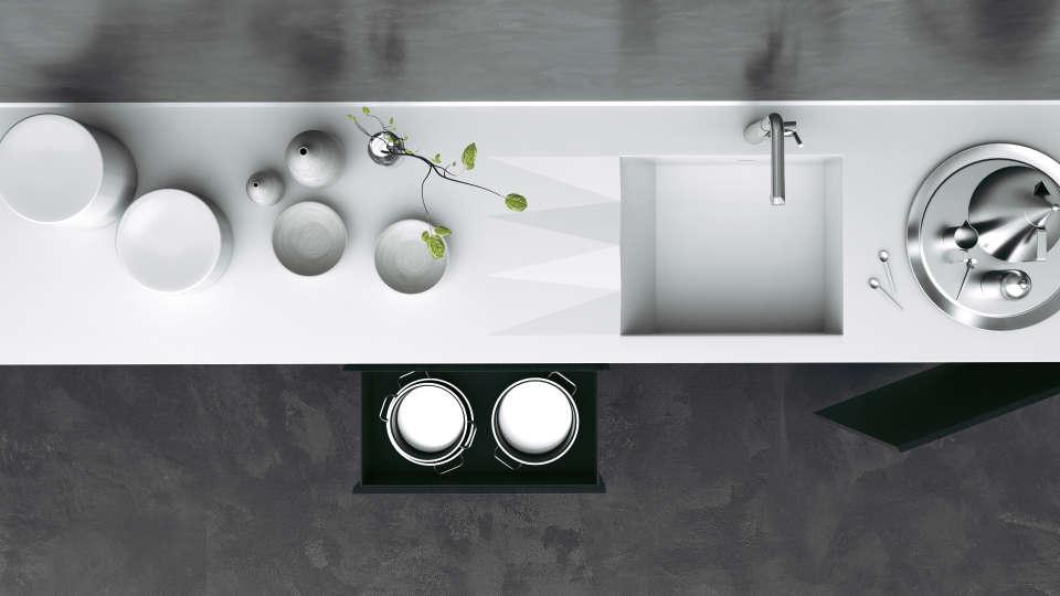сучасна кухонна мийка штучний камінь