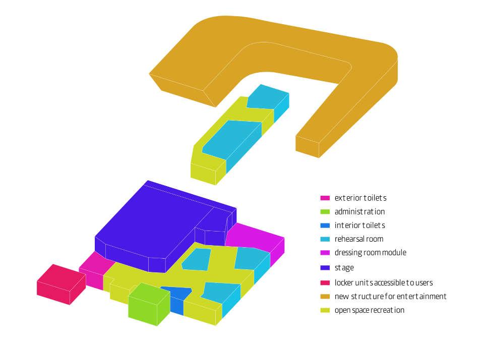 функціональне зонування в аксонометрії