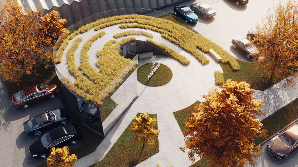 як виглядатиме зелений дах восени