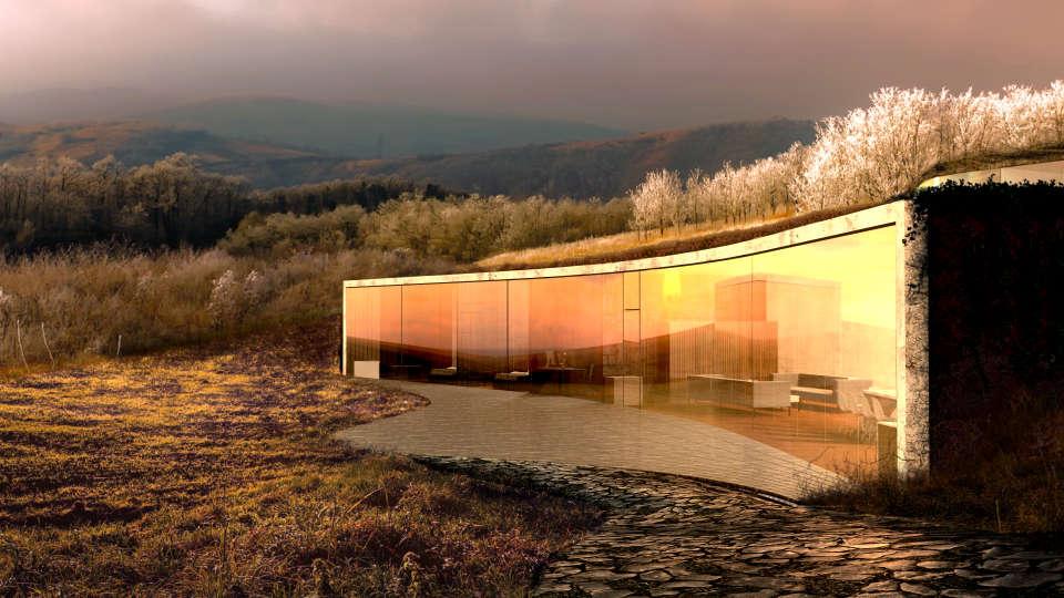 панорамний скляний фасад - параметрична архітектура
