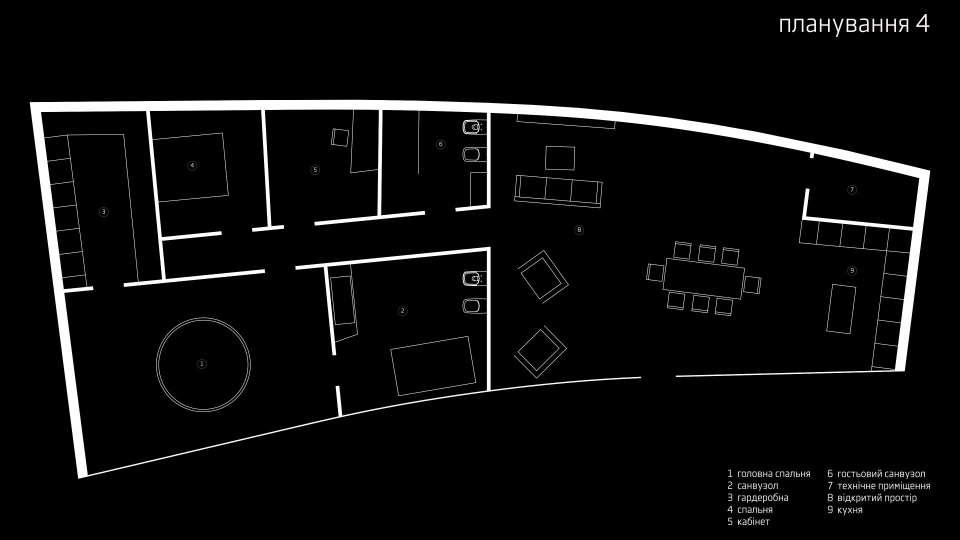 планування будинку з панорамним заскленням