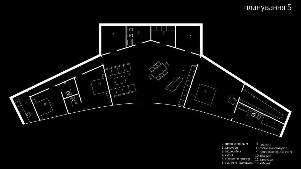 параметрична архітектура - планування будинку 240 м2