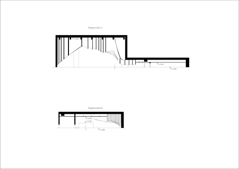 розріз холу бц європасаж - параметрична архітектура