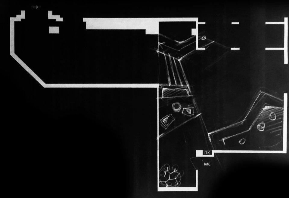 параметричний дизайн - скетч планування холу