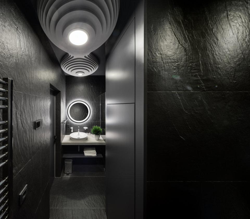 чорний восьминіг дизайн ванної кімнати