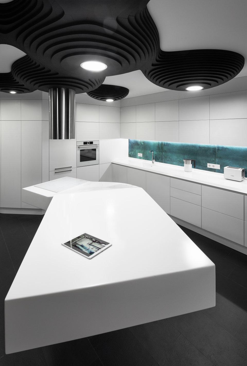 чорний восьминіг деталі кухонний стіл