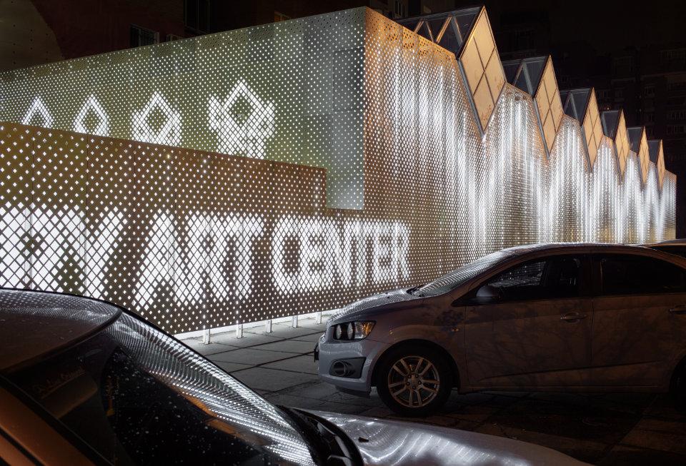 переосмислення центру сучасного мистецтва з використанням параметричного фасаду