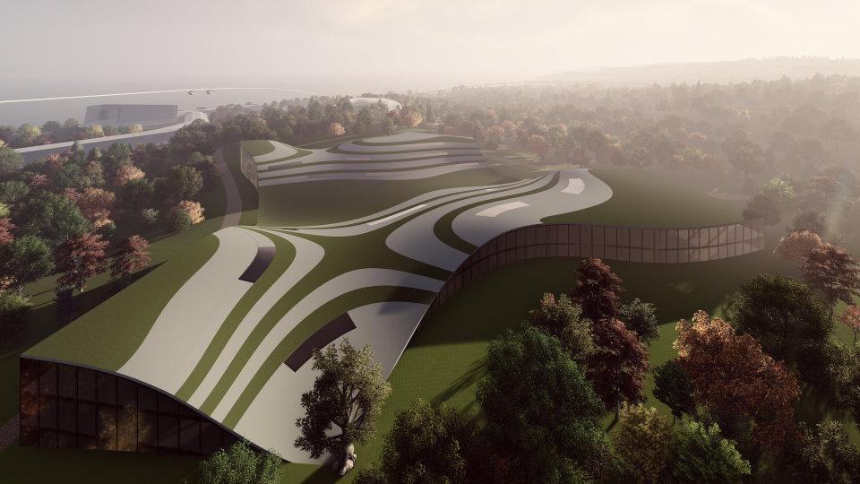 школа - екологічна обчислювальна архітектура з зеленим дахом