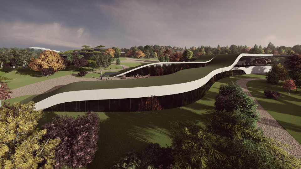 зелений дах на будівлях в архітектурі