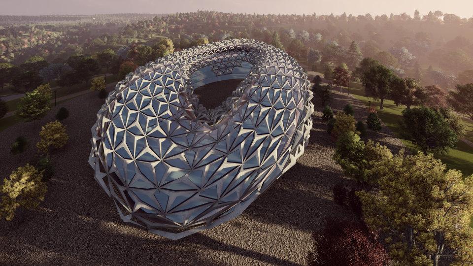параметрична архітектура - будівля готелю на дніпрі