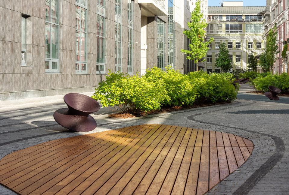 дерев'яні покриття для дворів